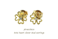 pinacoteca 356 Heart Clover Stud Earrings �ԥʥ��ơ��� �ϡ��� ���?�С� �����å� �ԥ���