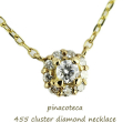 �ԥʥ��ơ��� 455 ���饹���� ��������� ����ͥå��쥹 18��,pinacoteca Cluster Diamond Necklace K18