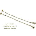 ピナコテーカ 630 ドロップ パール 一粒 揺れる 華奢ピアス 18金,pinacoteca Drop Pearl M american Earrings K18