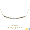�ԥʥ��ơ��� 641 ������ ��������� �饤�� �С� �ͥå��쥹 18��,pinacoteca Dazzle Diamond Line Necklace K18