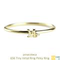 �ԥʥ��ơ��� 656 �����ˡ� ���˥���� ��� �ԥ���� ���� �Ť��դ� 18�� �˾� �ץ쥼���,pinacoteca Tiny Initial Ring K18