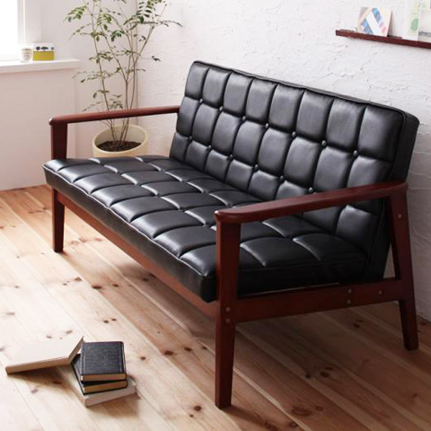 LEATHER SOFA 2�ͳݤ��쥶�����ե�