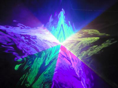 超小型500mw高性能RGBレーザーライト(レーザービーム) A500RGB+