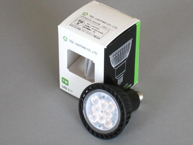 【即納】 TES/テス LED電球 JDR50W相当 調光対応 径50mm E11 色温度2700K 中角 本体黒 ☆100V ダイクロハロゲン電球代替タイプ☆ LDR7B20/27E-11Mh/DM