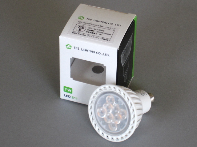 【即納】 TES/テス LED電球 JDR50W相当 調光対応 径50mm E11 色温度2700K 中角 本体白 ☆100V ダイクロハロゲン電球代替タイプ☆ LDR7W20/27E-11Mh/DM