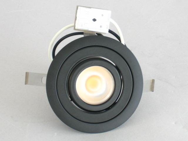 【即納】 UNITY/ユニティ LED家具・什器照明 LED棚下ユニバーサルダウンライト JR12V20W相当 端子台タイプ 100V直結 埋込穴φ75mm 色温度3000K 本体黒 ☆コインエース☆ UDL-1903B-30