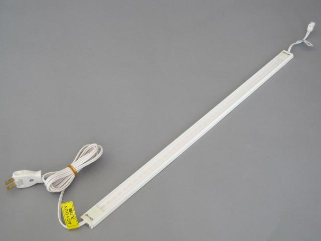 【納期2~3日】 UNITY/ユニティ LED什器・棚下照明 LEDバーライト 超薄型 100V直結 2Pプラグ付 600mm 色温度3000K ☆新LEDぴたライト 電源入力用☆ UTL-9015-30-A2-P