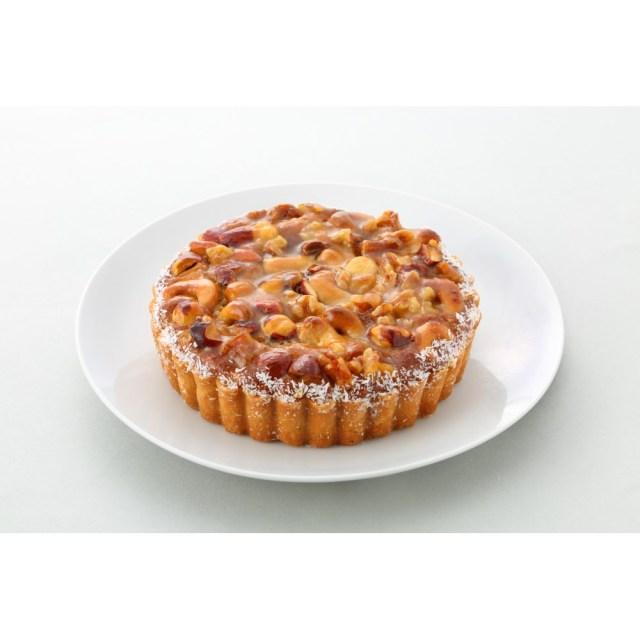 【カムカム倶楽部特選品】ビオクラスタイルのマクロビオティックケーキ 4種の木の実のアーモンドクリームタルト(1/6カットあり)