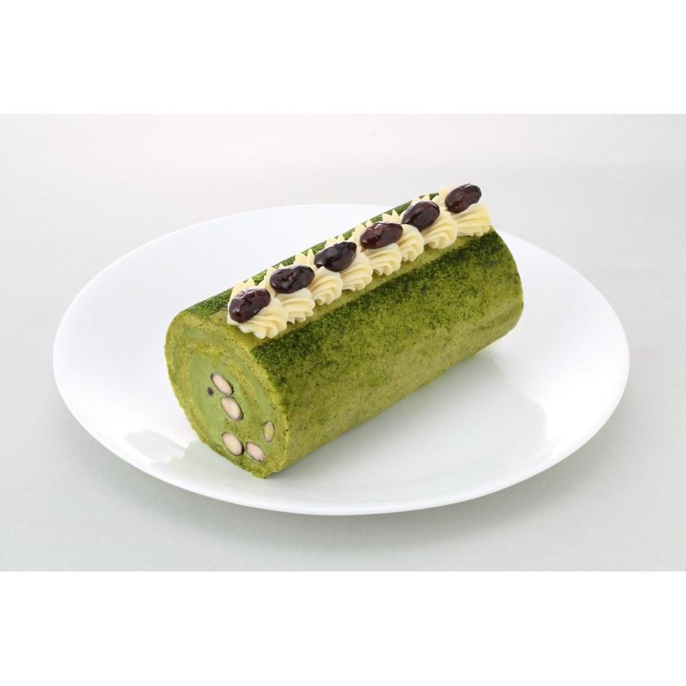 【カムカム倶楽部特選品】ビオクラスタイルのマクロビオティックケーキ 有機抹茶と丹波の黒豆ロール カット無し