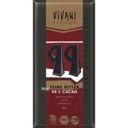 【冷蔵品】ViVANI オーガニック エキストラダークチョコレート99% 80g×5枚