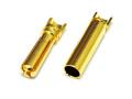 LB 4mm 先割れタイプゴールドコネクター ハーフカット(10ペア) 【メール便可】