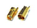 LB 6mm 先割れタイプゴールドコネクター ハーフカット(10ペア) 【メール便可】