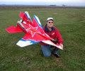 MiG 29 3D EDF(2Motor+2ESC+9Servo+Gyro) ��åɥ������С������