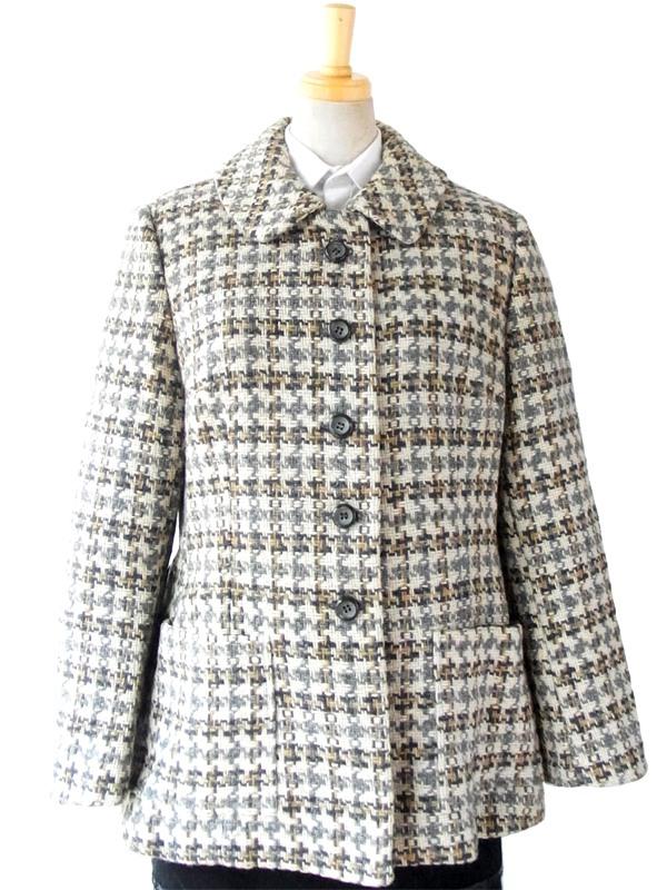 【送料無料】ロンドン買い付け 60年代製 Peck&Peck ヴィンテージ ツイード ジャケット 14SP001【ヨーロッパ古着】