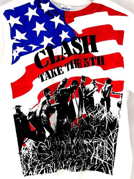 THE CLASH Chain Gang Fifth Column オフィシャル復刻Tシャツ