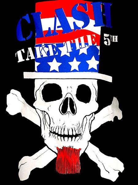 ザ・クラッシュ Take The 5th Fifthcolumn オフィシャル復刻Tシャツ