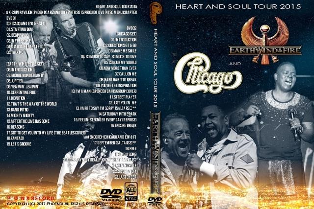 コレクターズDVD  Chicago and Earth, Wind & Fire - Heart and Soul Tour 2015