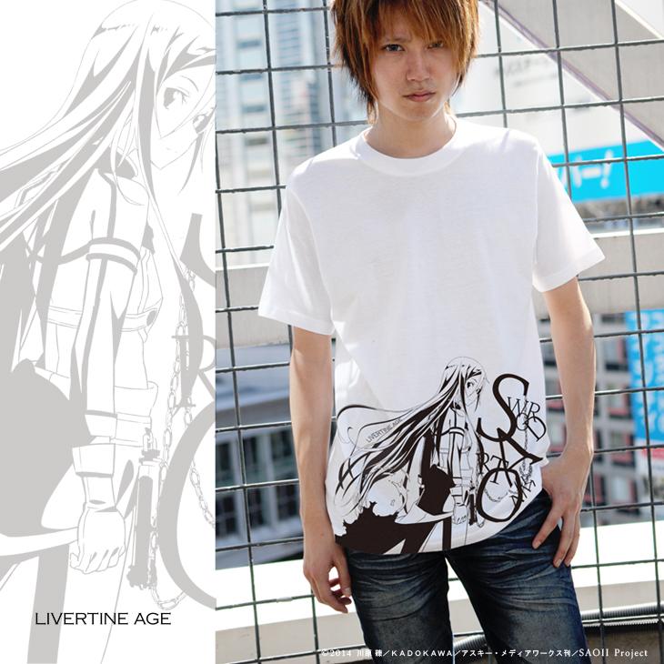【完全第2回予約受注生産】ソードアート オンラインII SWORD ART ONLINE II TYPE:ACHROMATIC CHAIN Tシャツ◆コラボ メンズ Tシャツ レディース【2015年3月上旬より順次発送】