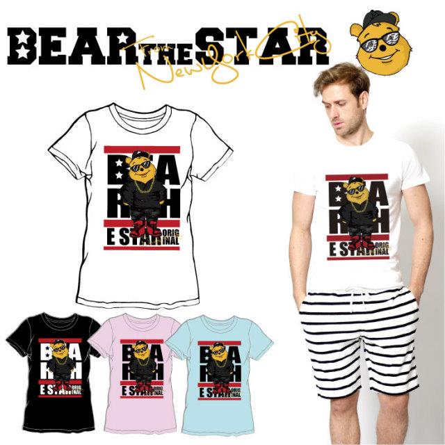 BEAR THE STAR type:STREET半袖Tシャツ◆ メンズ メンズファッション レディースファッション ユニセックス 男女兼用 BEAR THE STAR ベア― 熊 クマ 半袖Tシャツ 半袖 Tシャツ キャラクター キャラクターTシャツ