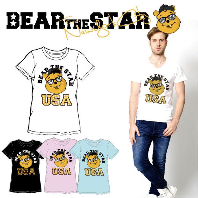 BEAR THE STAR type:FACE半袖Tシャツ◆ メンズ メンズファッション レディースファッション ユニセックス 男女兼用 BEAR THE STAR ベア― 熊 クマ 半袖Tシャツ 半袖 Tシャツ キャラクター キャラクターTシャツ