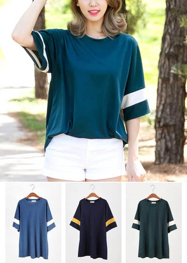 TP30300/シンプルでオシャレなスリーブバイカラーTシャツ(グリーン/ネイビー/ブルー)【Lサイズ LLサイズ 3Lサイズ 4Lサイズ 5Lサイズ 6Lサイズ 7Lサイズ】