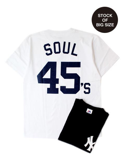 【30%OFF】M.V.P. x MAJESTIC NY SOUL 45's TEE