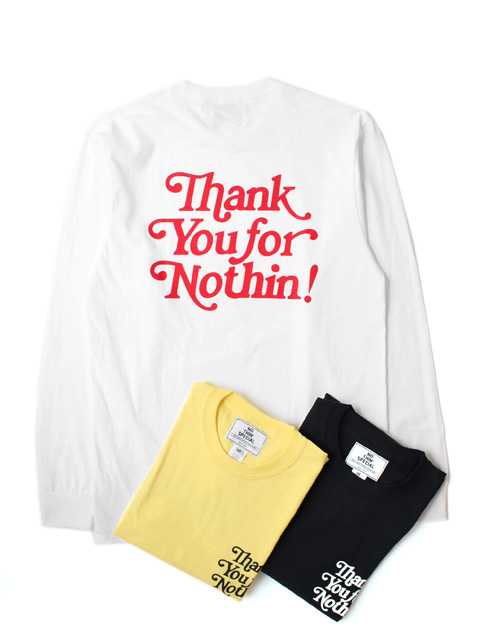【20%OFF】NOTHIN'SPECIAL THANK YOU LONG SLEEVE