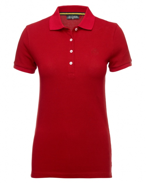 LADIES POLO SHIRT - red