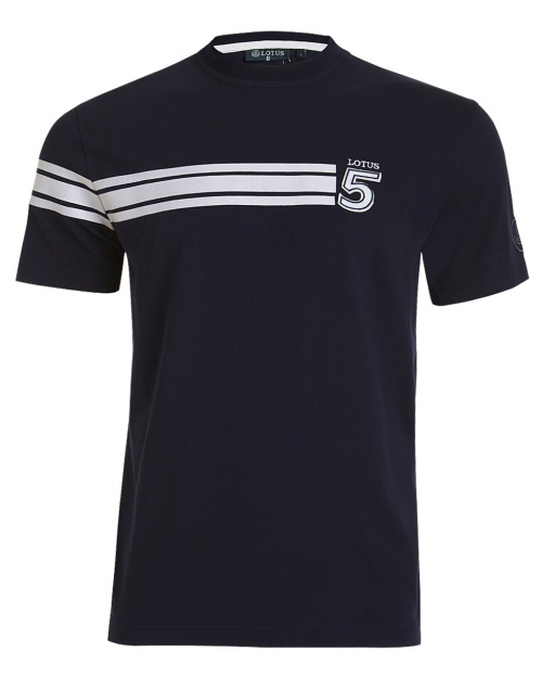 'NO.5' T-SHIRT -dark blue