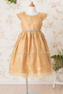 子供用ドレス エミリー ゴールド