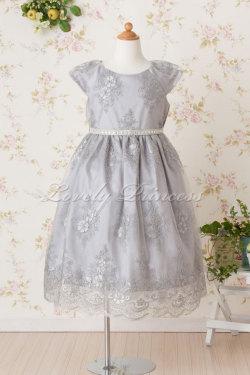 子供用ドレス エミリー シルバー