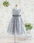 子供ドレス セシル シルバー
