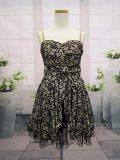 ブラックチュールレイヤー加工ドレス ゴールド(SK82131-GL)