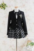 【Smell Sweet】黒色ガールズデザインスーツ (150cm・160cm・165cm:93210A)