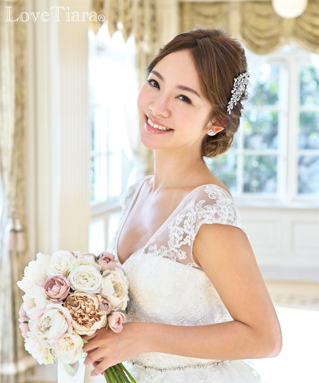着用画像 ヘッドドレス ウエディング 結婚式