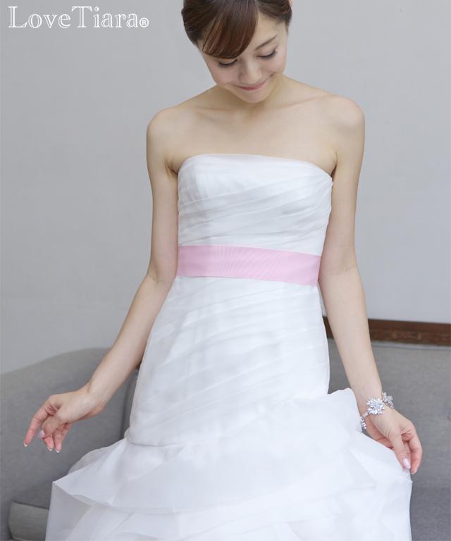 着用画像 ブレスレット ビジュー ウェディング 結婚式