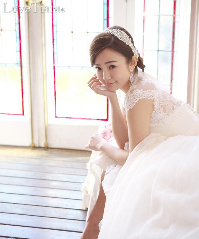 着用画像 イヤリング ウエディング 結婚式