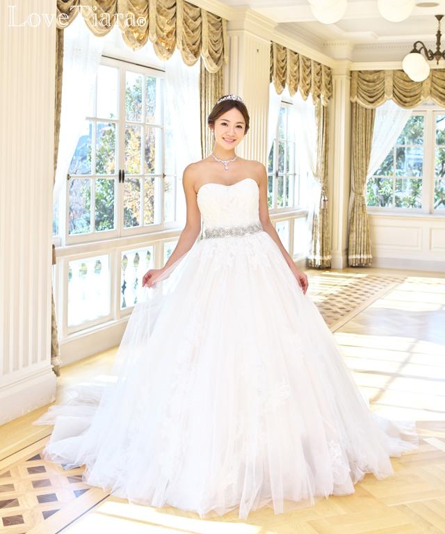 着用画像 ティアラ ウエディング 結婚式