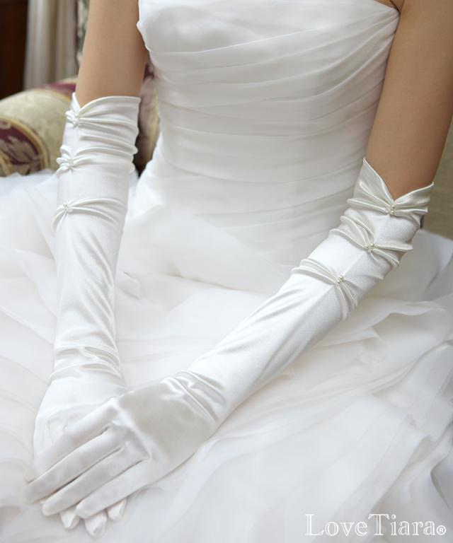 着用画像 グローブ ウエディング 結婚式