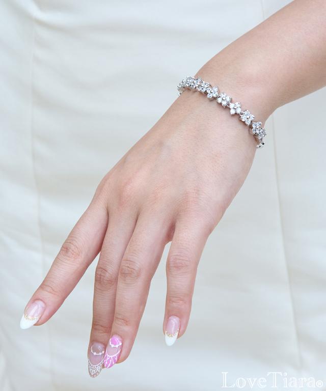 Detail ブレスレット ビジュー ウェディング 結婚式
