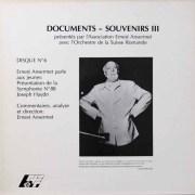 アンセルメのハイドン/交響曲第88番「V字」(解説付き) スイス・アンセルメ協会 2701 LP レコード