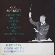 シューリヒトのベートーヴェン/交響曲第4&8番 オリジナル盤 仏EMI 2515