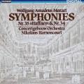 アーノンクールのモーツァルト/交響曲第35番「ハフナー」&34番 独TELEFUNKEN 2821 LP レコード