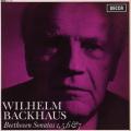 バックハウスのベートーヴェン/ピアノソナタ第1、5、6&7番 オリジナル盤 英DECCA 2741 LP レコード