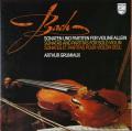 グリュミオーのバッハ/ヴァイオリンのための無伴奏ソナタとパルティータ全集 蘭PHILIPS 2750 LP レコード