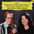 クレーメル&アルゲリッチのベートーヴェン/ヴァイオリンソナタ第1〜3番 独DGG 2802 LP レコード