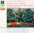 オイストラフ&フルニエのブラームス/ヴァイオリンとチェロのための二重協奏曲 独Columbia 2806 LP レコード