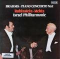 ルービンシュタイン&メータのブラームス/ピアノ協奏曲第1番 英DECCA オリジナル盤 2808 LP レコード