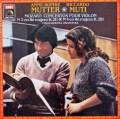ムター&ムーティのモーツァルト/ヴァイオリン協奏曲第2&4番 仏EMI 2828 LP レコード