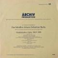 ニコレ&リヒターらのバッハ/音楽の捧げもの 独ARCHIV 2828 LP レコード